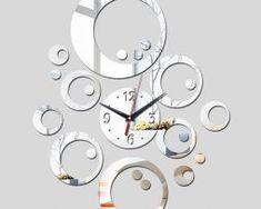 2016 promotion hot sale quartz watch wall clock modern home decoration diy antique acrylic mirror Wall Stickers Mirror Wall Clock, Clock Art, Wall Clock Design, Diy Clock, Diy Mirror, Wall Stickers Silver, Mirror Wall Stickers, Wall Stickers Home, Modern Clock