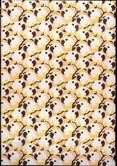 Textile Sample, La Maison Martine, designed by Paul Poiret, ca. 1911-1923, silk satin. Metropolitan Museum of Art.