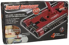 TV Das Original 07146 Balai Mécanique Swivel Sweeper G2 Rouge: Swivel Sweeper GII- la nouveauté pour votre intérieur Quatre brosses…