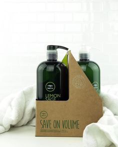 Check out the Limited Edition Lemon Sage Thickening Liter Duo! #TeaTreeHairCare Paul Mitchell, Tea Tree, Vodka Bottle, Sage, Hair Care, Lemon, Hair Beauty, Check, Products