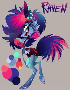 A secret ref sheet of Raven by Vivziepop. #Zoophobia #Vivzmind