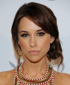 Lacey Chabert Casual Straight Updo Hairstyle - Dark Brunette