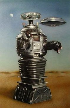 B-9 robot painting by Stephen Heigh