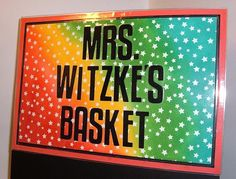 Colorful Teacher Decor!