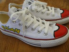 Pokemon Custom Converse Shoes by KatCanvas on Etsy, $72.00