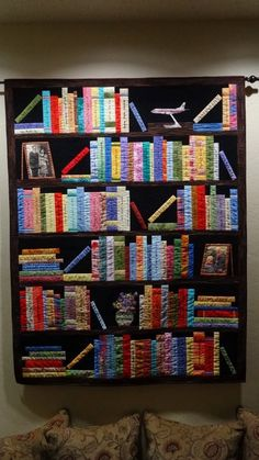Bookshelf Quilt!!! (personalize the book titles) - for a bookworm like me, this is fantastic!!!