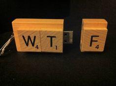 WTF Scrabble USB Drive