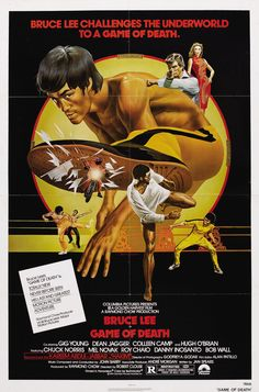 Bruce Lee in GAME OF DEATH (1979) and featuring Chuck Norris.