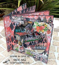 Pop Up Tunnel, Tunnel Book, Alice In Wonderland Crafts, Album Maker, Free Collage, Paper Light, Distress Oxides, Pop Up Cards, Collage Sheet