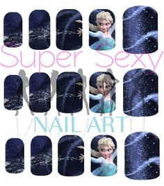 Frozen Princess Elsa Let It Go Scene Disney Nail Art Water Transfer Decal - Waterslide Paper - Water Slide Paper on Etsy, $4.99