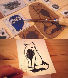 renard gravure