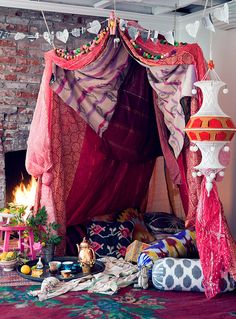 Fortify Your Love by justinablakeney, via Flickr --bedroom boho!