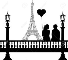 Illustration of Couple in love on Valentine s Day in front of Eiffel tower in Paris silhouette, one in the series of similar images vector art, clipart and stock vectors. Paris Room Decor, Paris Theme, Paris Torre Eiffel, Paris Eiffel Tower, Silhouette Painting, Silhouette Clip Art, Woman Silhouette, Eiffel Tower Drawing, Paris Drawing