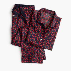 A can't-miss combo: a comfy cotton pajama set in a signature print from London's Liberty Art Fabrics, the British print house famous since 1875 for its signature florals and paisleys. Cropped pant. Sits at hip. Hits at hip. 35 inseam. Cotton. Machine wash. Import. Online only.