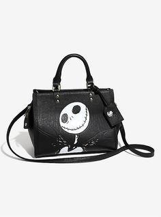 OFFICIAL Nightmare Before Christmas Clothing & Merch The Nightmare Before Christmas Jack Debossed Bag – BoxLunch Exclusive, , hi-res Nightmare Before Christmas Clothing, Nightmare Before Christmas Backpack, Nightmare Before Christmas Tattoo, Disney Handbags, Disney Purse, Black Handbags, Purses And Handbags, Novelty Bags, Walking In Heels