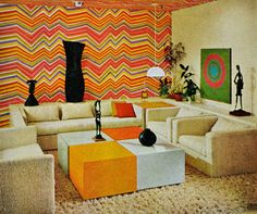 1000 images about vintage rooms on pinterest 1970s for 1970s living room interior design