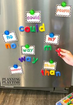 Sight Words Kindergarten Activities, Printables and Worksheets - Magnet Spelling Looking for fun kindergarten sight words activities and printables? Hands on sight words activities and interactive binders for home, school or on the go. E Learning, Toddler Learning Activities, Learning Through Play, Preschool Activities, Educational Activities, Preschool Letters, Alphabet Activities, Learning Shapes, Abc Alphabet