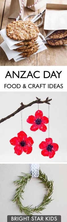 Here is a small list of crafts and food ideas to help commemorate the day. For more child-friendly ideas & DIY's, go to: blog.brightstarkids.com.au #anzacday #remembranceday #craftideas