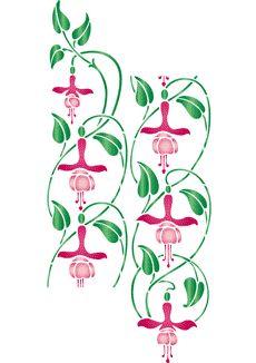 Vertikal fuchsia • mönsterschablon till konstverk • handla online på Internet