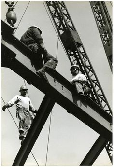 Jan Yoors - Iroquois Steelworkers, 1963