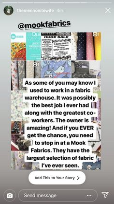 Shop Mook Fabrics fabric store in Medicine Hat Alberta, Winnipeg Manitoba and Leola Pennsylvania for your new favorite fabrics for all your DIY creations! Good Job, Pennsylvania, Medicine, Quilting, Fabrics, Diy Projects, Photo And Video, Sewing, Create