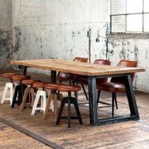 Zeus Wood & Metal Dining Table