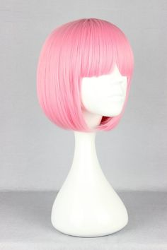 Quality Pink Wig Synthetic Heat Resistant Short Afro Kinky Wavy Hair Lolita Wig Harajuku Peruca Pelucas Cosplay Short Anime Pink Wig with free worldwide shipping on AliExpress Mobile Long Pink Hair, Blue Ombre Hair, Pastel Wig, Pink Wig, Pastel Goth, Pink Streaks, Pink Highlights, Short Wigs, Short Afro