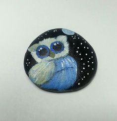 #owl #painted stone by sydn_art