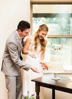 May wedding at The Grove! #SarahDelaniePhotography see more at thegroveaubreytexas.com #NorthTexasWeddin #OutdoorCeremony #Wildflowers #PinkWedding #FabricCeremonyBackdrop #BohemianBride #AfternoonWedding #TheGroveTX
