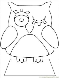 winking owl coloring page love the large basic owl coloring page for the younger kiddos