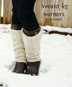 Sweater Leg warmers - tutorial