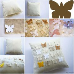 mariposas para almohadon