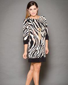 Vestido animal print! #aldanaboutique