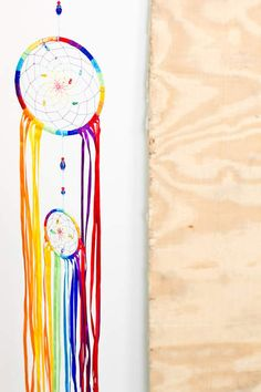 Can't help but love the Rainbow Ribbon Dreamcatcher!