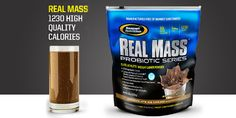 To get big, you have to eat big which is why Gaspari Nutrition developed REAL MASS Probiotic Series.