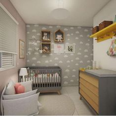Explore the Baby Nursery Room Design Ideas and Inspiration at The Architecture Design. Visit for more images and ideas for decorating your children's room. Baby Bedroom, Baby Boy Rooms, Baby Room Decor, Nursery Room, Nursery Ideas, Plant Nursery, Nursery Themes, Room Themes, Bedroom Ideas