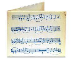 Cartera Partitura música Cartera que parece de papel pero es de Tyvek El Tyvek es un plástico, reciclable, impermeable, y muy muy resistente