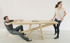 """""""Courtesytable-Marleen Jansen""""- Table with see-saw seating"""