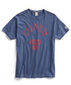 Washed Royal 1919 Crew T-Shirt by Todd Snyder