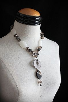 STONE COLD CRAZY Gemstone Bead Statement by carlafoxdesign on Etsy, $95.00