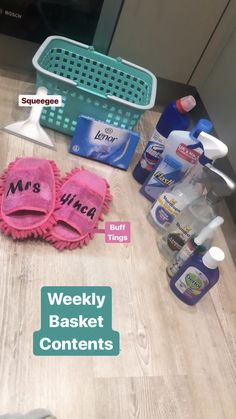 Mrs Hinch weekly basket contents