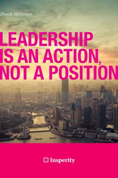 """Leadership is an action, not a position."" ~ Donald McGannon #leadership #quote #business http://www.insperity.com/blog/?insperity_topic=leadership-and-management&keywords=&paged=1?utm_source=pinterest&utm_medium=post&utm_campaign=outreach&PID=SocialMedia"