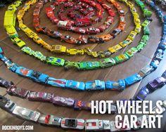 Hot Wheel Car Rainbow Art