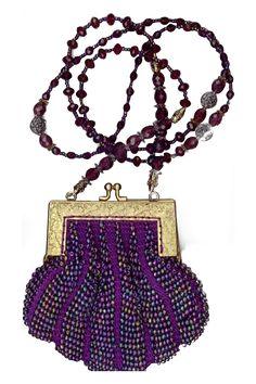 vintage purple beaded purses - Google Search