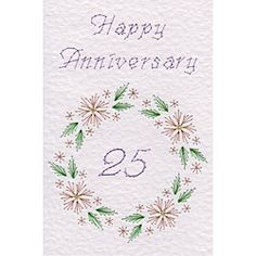 Flower Circle Anniversary 25 | Special Occasions patterns at Stitching Cards.