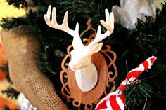 Deer Head Ornament -