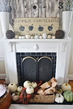 simple neutral fall mantel