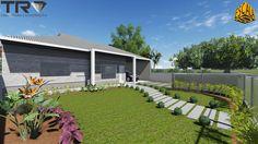 Casa Térrea Maquete 3D