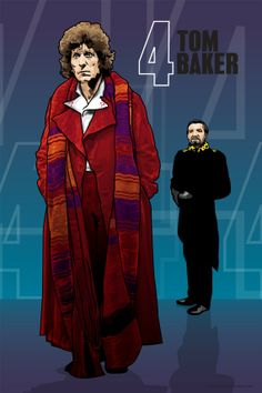 Doctor Who  Tom Baker and the Master  18 x 12 by DadManCult, $6.99