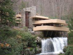 Fallingwater, Frank Lloyd Wright, 1936-1939, Pennsylvania.